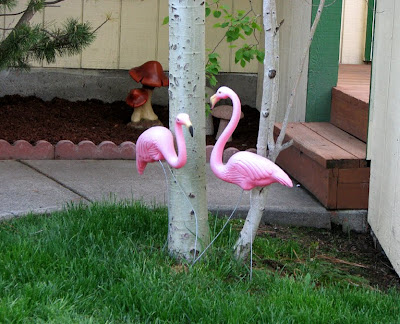 Flamingo Lawn Sculpture or Garden Sculpture