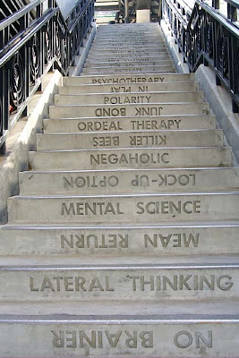 Staircase at Los Angeles Transit Stop