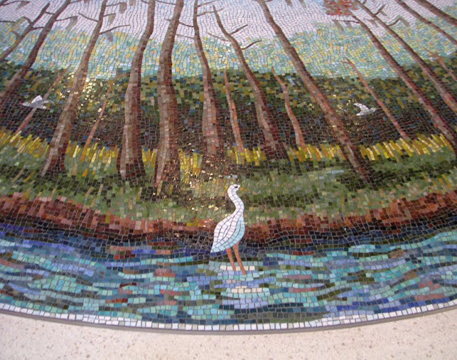 Bird Mosaic at Dallas/Fort Worth Airport