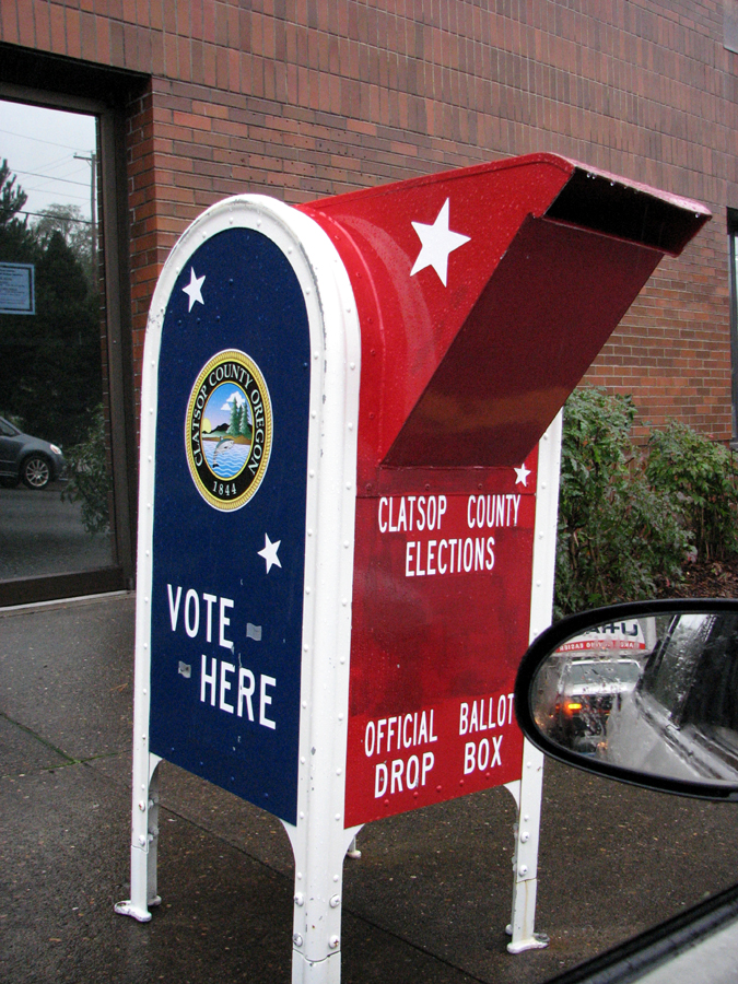 Ballot drop-off-box, Astoria, Oregon