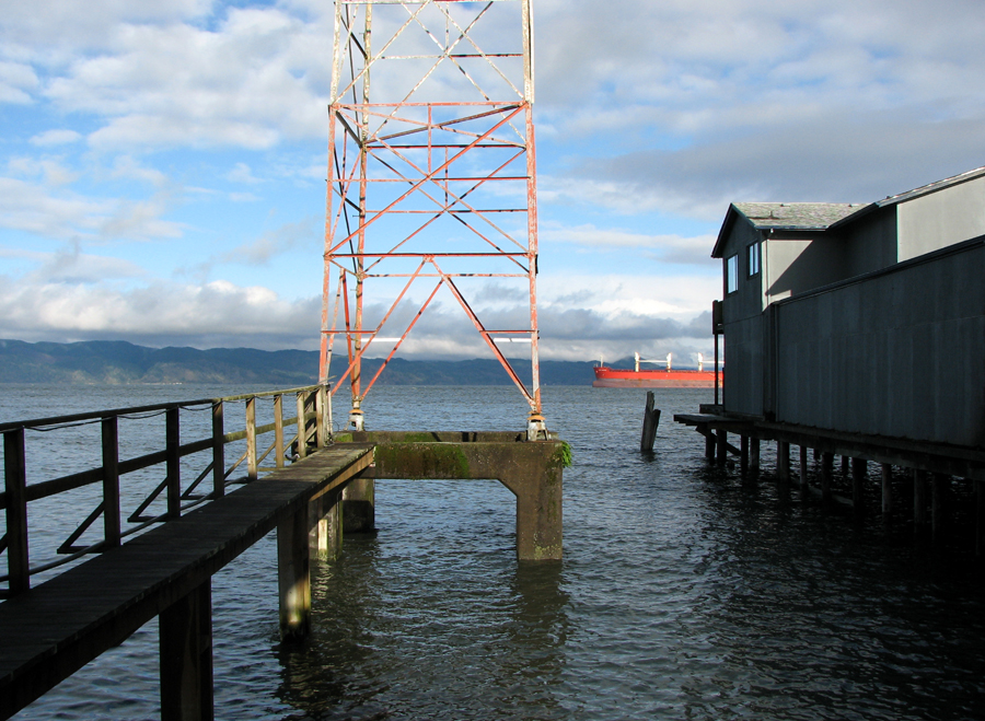 Sky, Tower, Ship, Astoria, Oregon