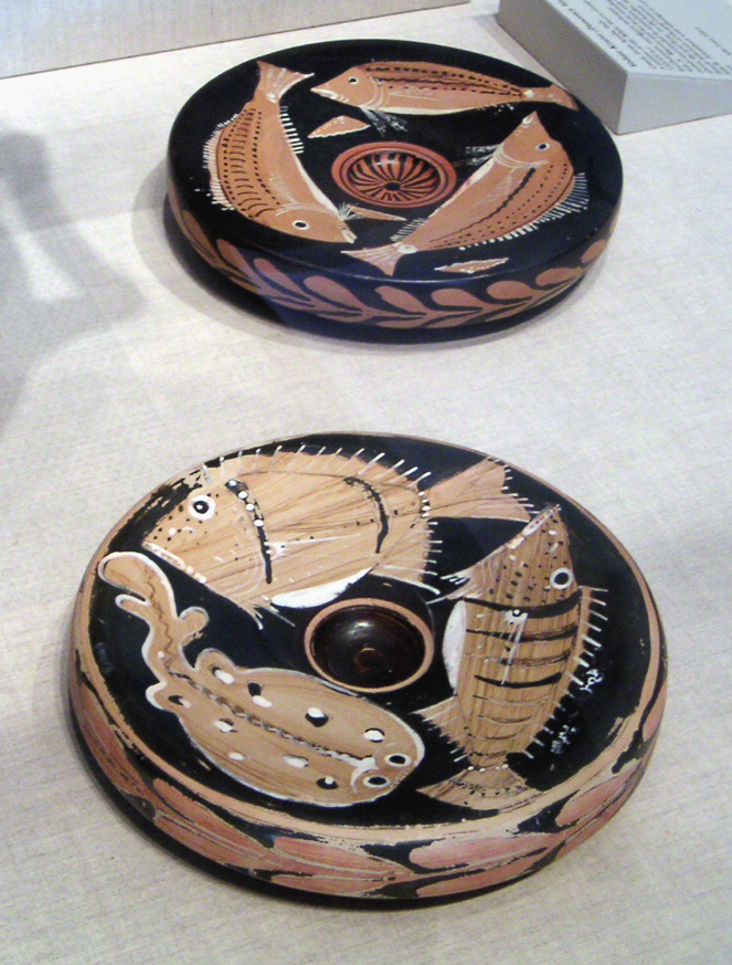 Ancient Greek Bowls with Painted Fish, The Art Institute of Chicago Museum