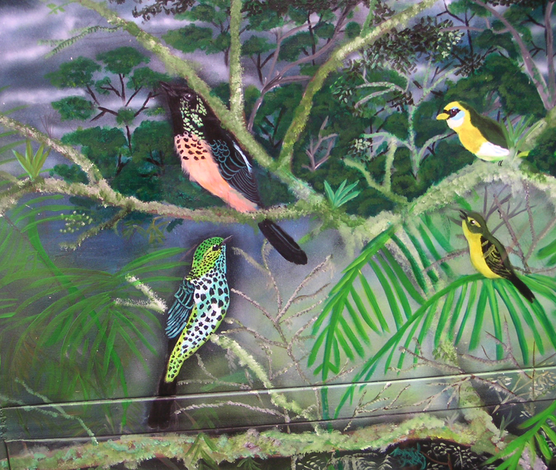 Bird Mural, Los Quetzales, Panama