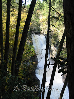 View from the side of the water falls