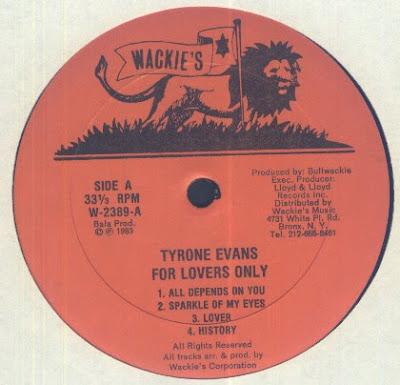 TYRONE dans Tyrone Evans