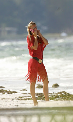 Maria Sharapova On The Beach