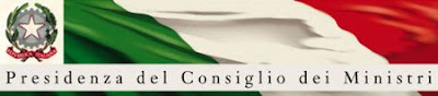 Banner del sito della Presidenza del Consiglio