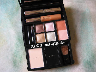 makeup palette. The palette includes four
