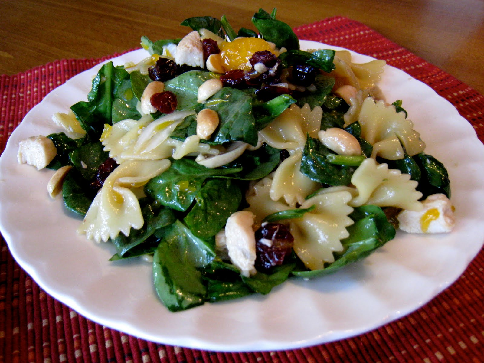 Spinach, Chicken, Bowtie Pasta Salad with Teriyaki Vinaigrette ...