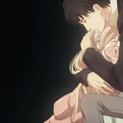Sad Anime Couple Hugging Image