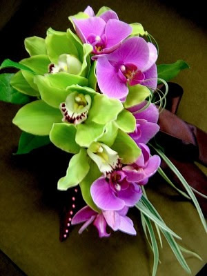Tropical Orchid Wedding Bouquets More celadon and purple I love it