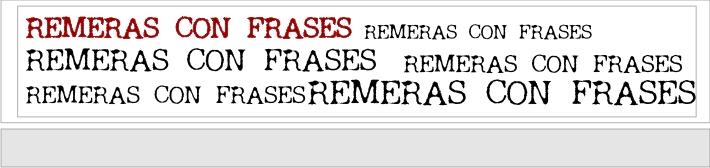 Remeras con frases
