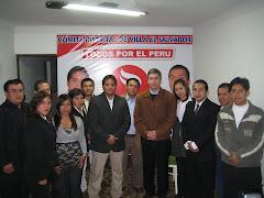 EL EQUIPO DE REGIDORES DE TODOS POR EL PERU EN VILLA EL SALVADOR.