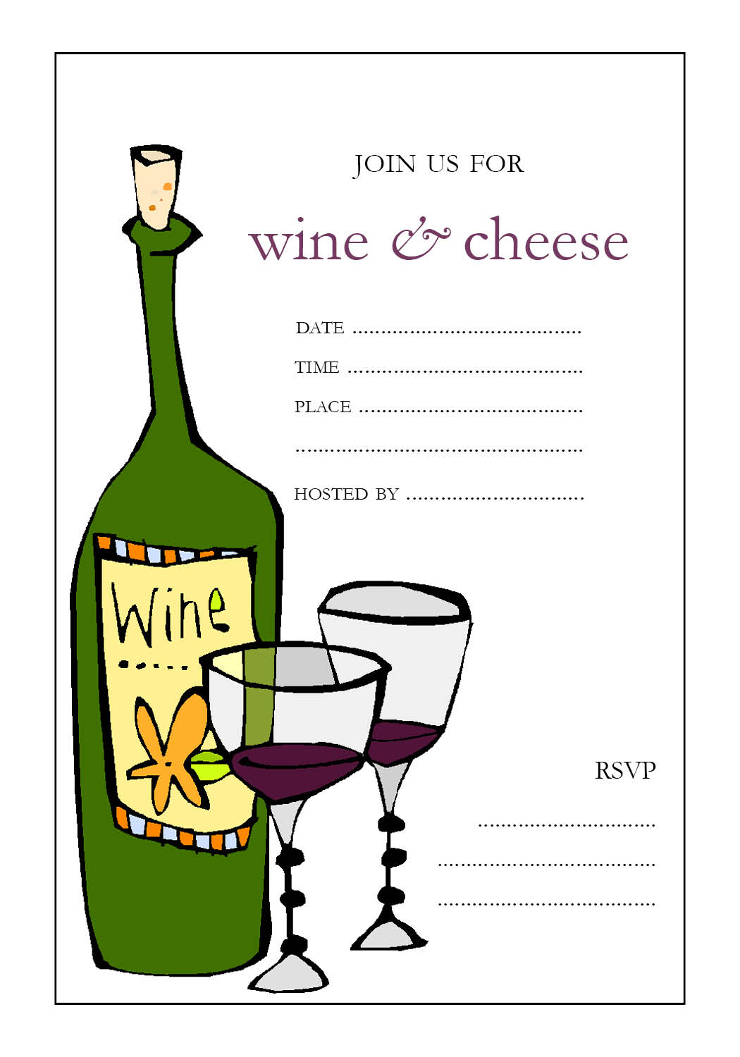 Wine And Cheese Party Invitations was adorable invitations template