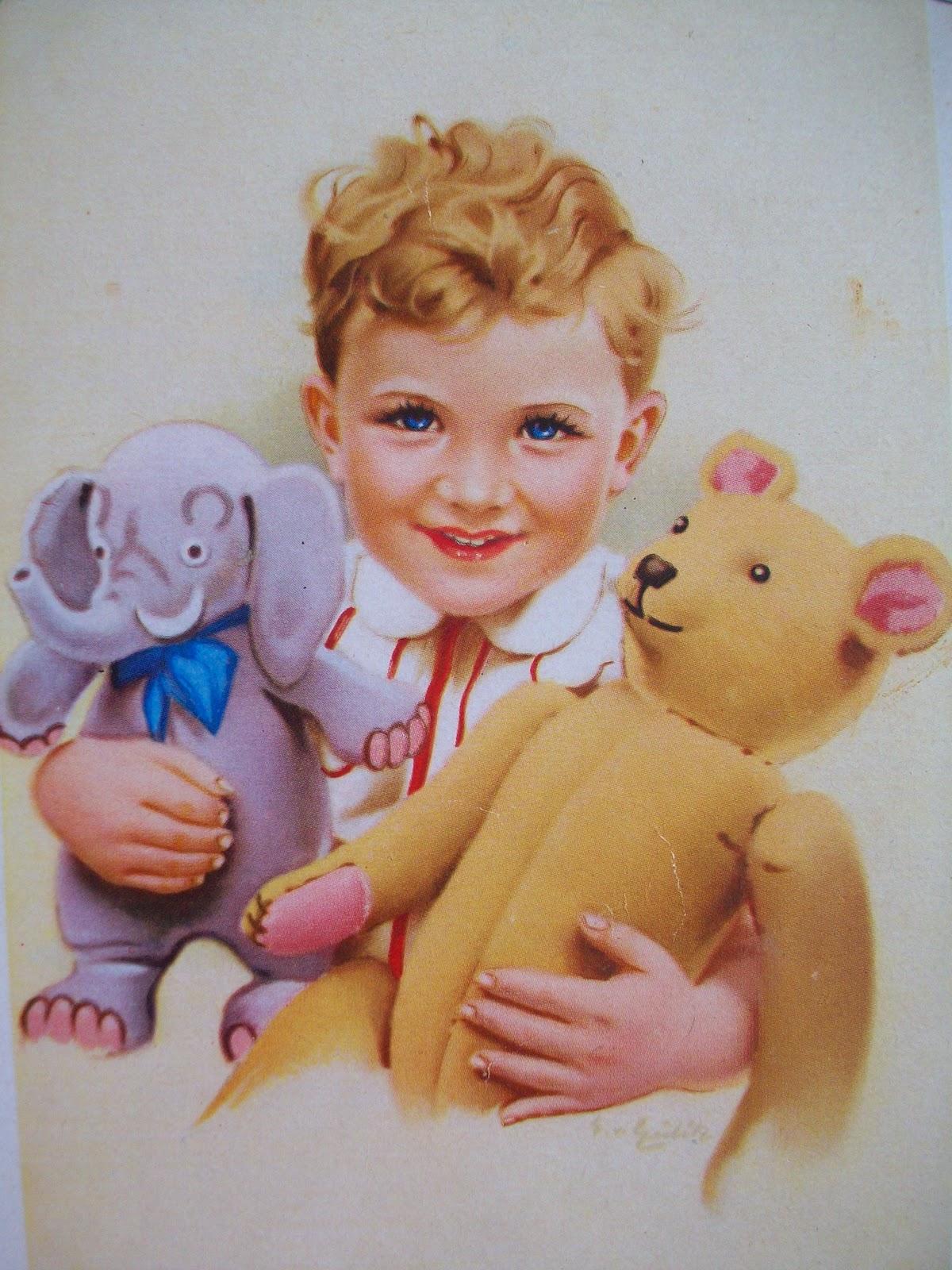Немецкие открытки с куклами 26