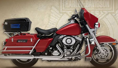 MOTORCYCLE HARLEY DAVIDSON FIRE-RESCUE ELECTRA GLIDE 2011