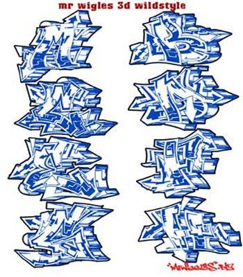 Best graffiti world design graffiti alphabet font wildstyle