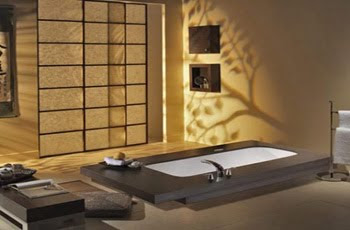 Comfortable Exotic Bathroom with natural phenomena