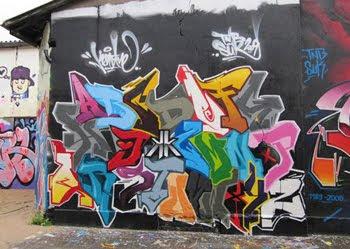 Six Design Alphabet Wildstyle graffiti