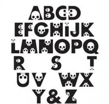 Alphabet Graffiti Styleletters A Z Stone Graffit Skull Cool DESIGN