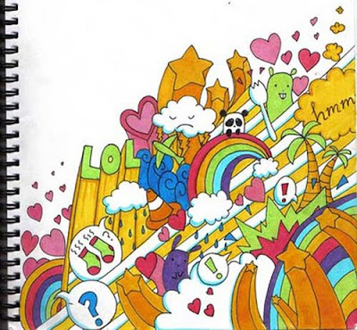 Cartoon, Graffiti, Sketches, Sweet, Rainbow, Cartoon Graffiti