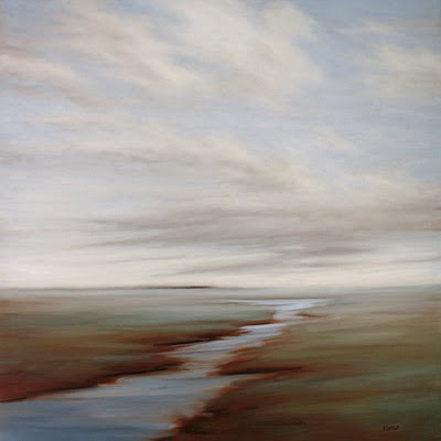 silver sky marsh oil painting by Kerri Settle