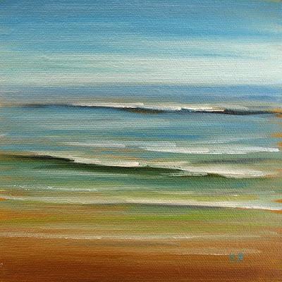 colorful ocean waves oil painting by Kerri Settle