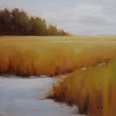 Autumn Marsh Oil Painting by Kerri Settle