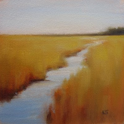 Fall Marsh Oil Painting by Kerri Settle