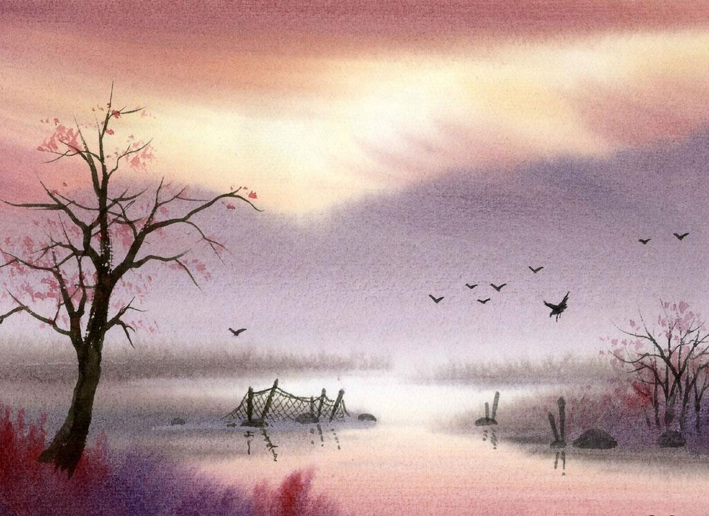 Watercolor Paintings Landscapes