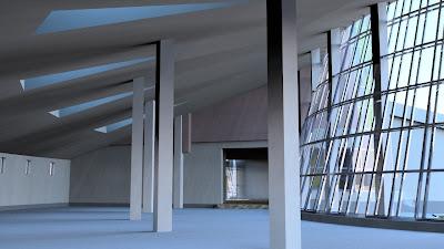 Příklad výsledného renderu interiéru