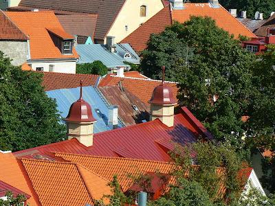 Imagini Estonia: panorama orasului vechi Talinn