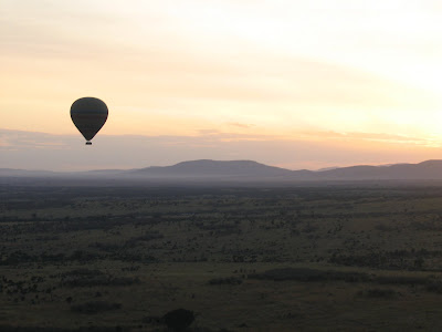 Zbor cu balonul in Africa