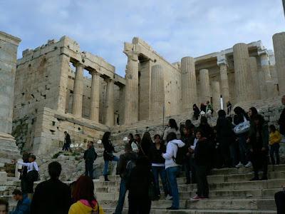 Imagini Atena: intrarea in Acropole