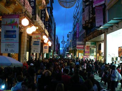 Ermou, strada comerciala a Atenei