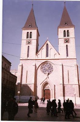 Obiective turistice Bosnia: catedrala catolica Sarajevo