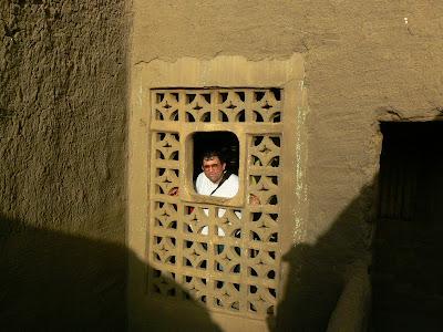 Imagini Djenne: o fereastra dintr-o casa de chirpici