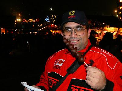 Dulciuri Viena: Capsuni trase in ciocolata la Piata de Craciun