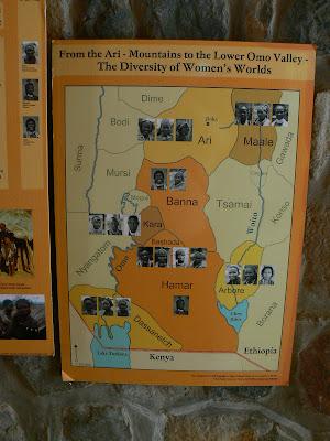 Obiective turistice Etiopia: Muzeul Vaii Omo Jinka, harta etnica