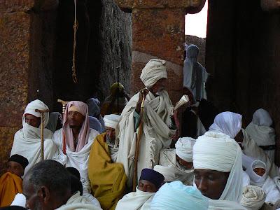 Imagini Etiopia: Craciun la Lalibela Beta Maryam