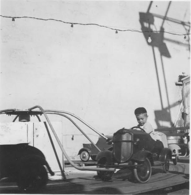 1949.  Grandpa Dysart as a young boy.  The next 3 pictures of Grandpa at a carnival.