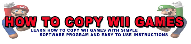 HOW TO COPY WII GAMES