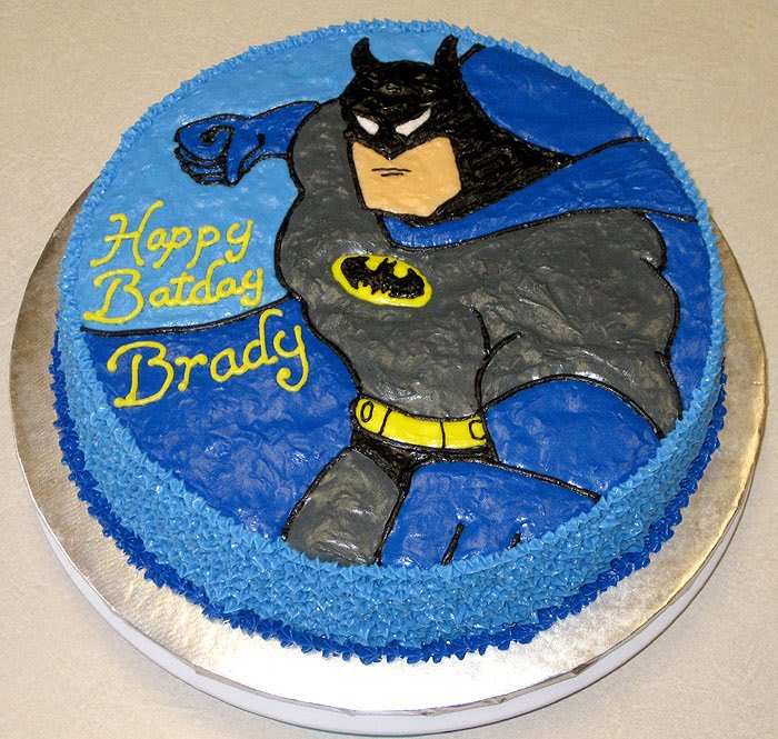 ... , the Birthday Boy turning 6 on Christmas Eve, wanted a Batman cake