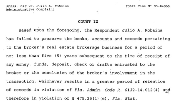 julio robaina gay. The Miami Herald goes into the IRS investigation of Julio ...