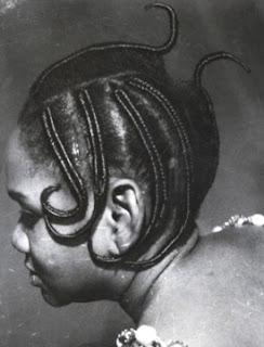 Photographies de Coiffures (Tressages) Années 50-60