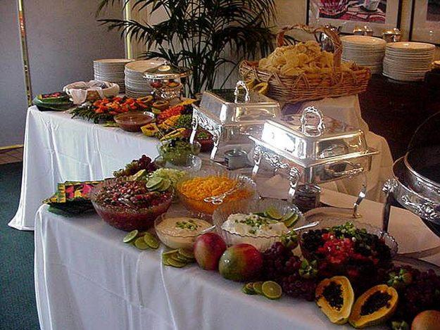 Catering set up ideas car interior design for Ensemble table buffet