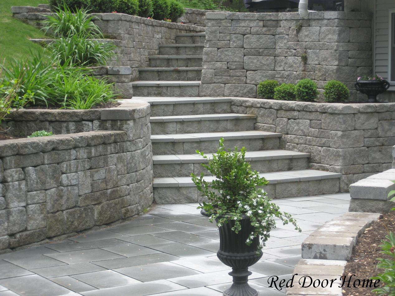 Remodelaholic worth the wait landscape party highlight for Walkout basement patio ideas
