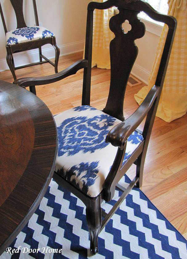 Red Door Home: How To Cover A Dining Room Chair