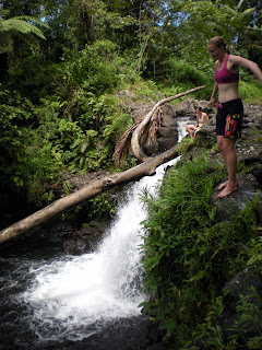 Liduduhniap Falls. The first fall has a good 20 foot drop that is good for jumping. A cave and room for swimming. The second fall is taller but there are too many rocks at the bottom for jumping. - Courtesy of 3.bp.blogspot.com