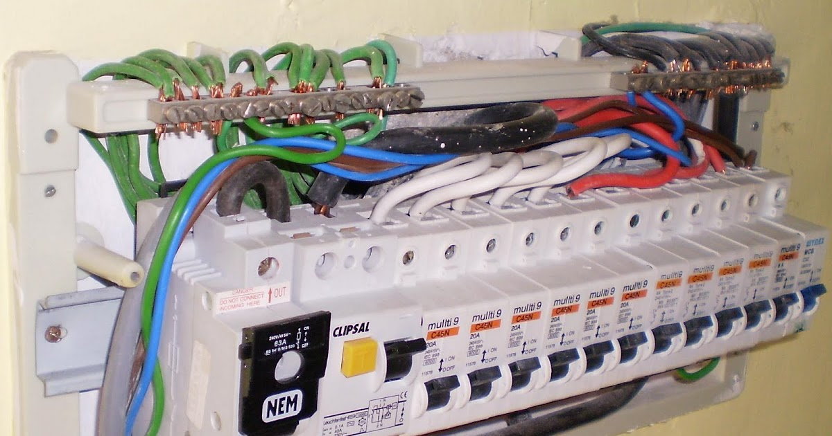 Electrical Installation Wiring Pictures: 1-Phase ELCB ...